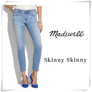 Madewell Skinny Skinny Ankle Jeans Mid Rise